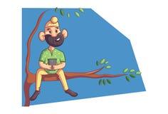 Wektorowa kreskówki ilustracja mieszkanowie pendżabu Sardar royalty ilustracja