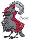 Wektorowa kreskówki wrona w kurtce i berecie Fotografia Royalty Free