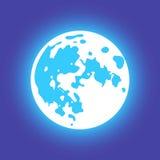 Wektorowa księżyc Mieszkanie styl Zdjęcia Stock