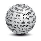 wektorowa kuli ziemskiej strona internetowa Zdjęcie Stock