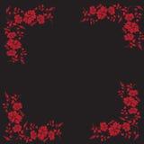 Wektorowa kwiat rama Obrazy Royalty Free