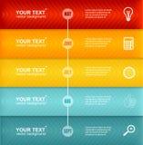 Wektorowa linia czasu Infographic kolorowy szablon Zdjęcie Royalty Free