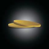 Wektorowa logo ikona monety Zdjęcia Royalty Free