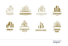 Wektorowa logo kolekcja dla miastowej budynek firmy Obraz Stock