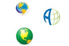 Wektorowa logo kula ziemska Fotografia Stock
