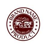 Wektorowa logotyp ilustracja z krajobrazem z kracze Zdjęcie Stock