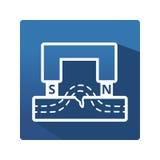 Wektorowa magnes ikona Zdjęcie Stock