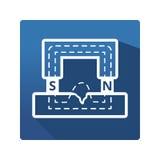 Wektorowa magnes ikona Obraz Royalty Free