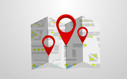 Wektorowa mapa Obrazy Royalty Free