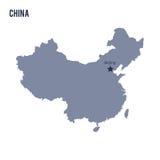 Wektorowa mapa Chiny odizolowywał na białym tle Zdjęcia Stock