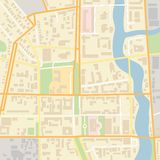 Wektorowa miasto mapa Obraz Royalty Free