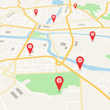 Wektorowa miasto mapa Zdjęcia Royalty Free