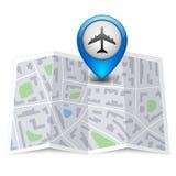 Wektorowa miasto mapa z etykietki szpilką Obraz Stock