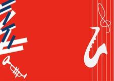 Wektorowa minimalistic ilustracja dla muzyka koncerta, festiwalu jazzowego lub teatru żywego występu, ilustracja wektor
