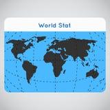 Wektorowa mono błękitna ilustracja robić ziemia Obraz Royalty Free