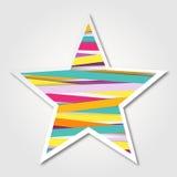 Wektorowa multicolor gwiazda Papierowy gwiazdowy logo od colour Szkockich taśm Fotografia Stock