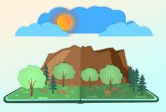 Wektorowa natura i lasy I dzikie zwierzęta żyją obfitość perfect lasowa podłoga i czują, ilustracja wektor