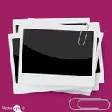 Wektorowa natychmiastowa fotografii rama z paperclip Obraz Stock