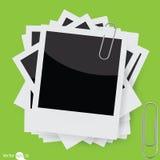 Wektorowa natychmiastowa fotografii rama z paperclip Obrazy Royalty Free