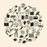 Wektorowa nauki ikona Zdjęcie Stock