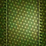 Wektorowa niebiescy dżinsy tekstury ilustracja z gwiazdami Zdjęcie Stock