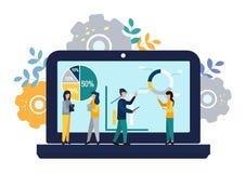 Wektorowa nowożytna płaska ilustracja, sukcesu pojęcie, dokonuje cel, wektorowa ilustracja biznes, pracownik nauki infographics, ilustracja wektor