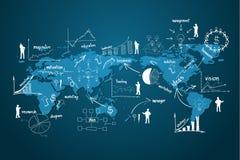 Wektorowa nowożytna globalnego biznesu gospodarka Obrazy Royalty Free