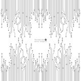 Wektorowa obwód deski ilustracja technologia abstrakcyjna 10 eps ilustracji