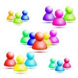 Wektorowa ogólnospołeczna sieci ikona Ilustracji