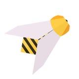 Wektorowa origami papieru pszczoła royalty ilustracja