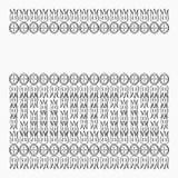 Wektorowa ornamentacyjna okładkowa ilustracja Obraz Stock