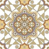 Wektorowa ozdobna bezszwowa granica w Wschodnim stylu Kreskowej sztuki element dla projekta, miejsce dla teksta Ornamentacyjna ro Obrazy Royalty Free