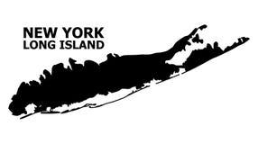 Wektorowa Płaska mapa Long Island z podpisem ilustracji