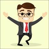 Wektorowa płaska ilustracja biznesmena ja target1549_0_ Zdjęcia Stock