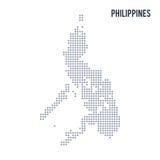 Wektorowa piksel mapa Filipiny odizolowywał na białym tle Fotografia Royalty Free