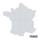 Wektorowa piksel mapa Francja odizolowywał na białym tle Obrazy Stock