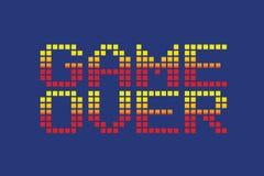 Wektorowa piksel sztuki stylu gra nad wiadomością Zdjęcia Stock