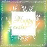 Wektorowa pocztówka dedykująca Wielkanocny wakacje ilustracji