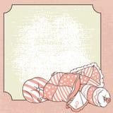 Wektorowa poduszki rama Karta dla piżamy przyjęcia ilustracji