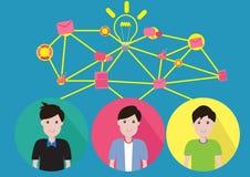 Wektorowa pojęcie biznesu praca zespołowa ilustracji