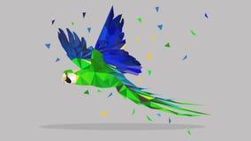 Wektorowa poligonalna ilustracja zwierzę Origami styl royalty ilustracja