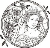 wektorowa portret kobieta Obraz Stock