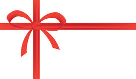 Wektorowa prezent karta z czerwonym faborkiem Obraz Royalty Free