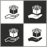Wektorowa prezenta pudełka niespodzianki ikona Zdjęcie Royalty Free