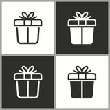 Wektorowa prezenta pudełka niespodzianki ikona Obraz Royalty Free