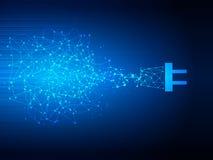 Wektorowa projekt technologia, sieć, podłączeniowy tło Wektorowa projekt technologia, wtyczkowy związek, elektryczności tło Zdjęcie Stock