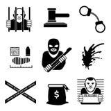 Wektorowa przestępca ilustracji