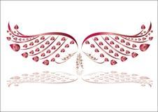 Wektorowa ptaka skrzydła ilustracja Zdjęcia Royalty Free