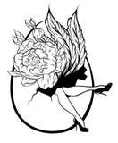 Wektorowa ręka rysująca ilustracja kobiet nogi i ogromny jajko royalty ilustracja