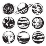 Wektorowa ręka rysująca ilustracja planety Fotografia Stock
